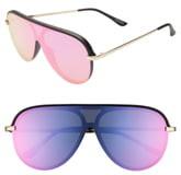 22b83a65666c1 Quay x JLO Empire 57mm Shield Sunglasses