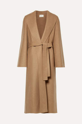 The Row Parlie Oversized Belted Cashmere Coat - Camel