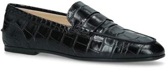 J.P Tods Croc-Embossed Mocassino Loafers