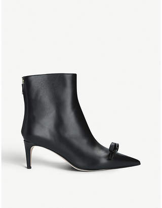 RED Valentino Sandie bow-detail leather boots