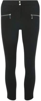 Dorothy Perkins Womens Black Cropped Zip Skinny Trousers