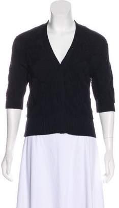 c81a2831b Prada Blue Wool Women s Cardigans - ShopStyle
