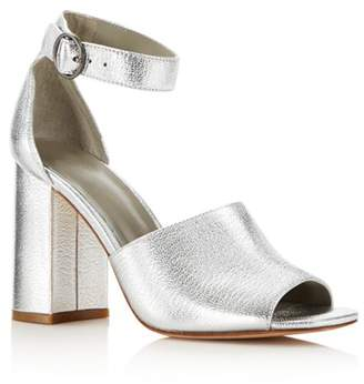 Joie Women's Lahoma Leather High Block Heel Sandals