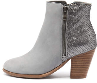 Django & Juliette Carols Blue grey-blue grey metallic Boots Womens Shoes Casual Ankle Boots