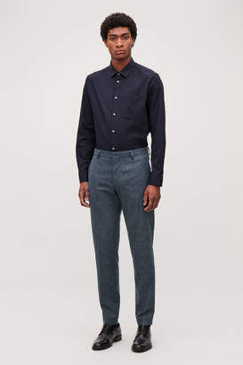 Cos WOOL MELANGE TROUSERS
