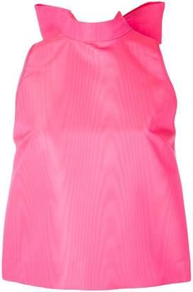 MSGM giant bow sleeveless blouse