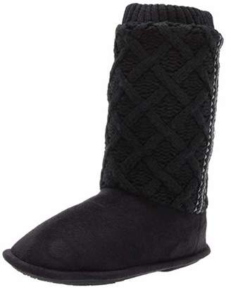 Isotoner Women's Sweater Knit Tessa Tall Boot House Slipper with All Around Memory Foam Comfort