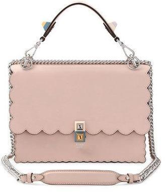 Fendi Kan I Scalloped Leather Shoulder Bag, Pink $2,250 thestylecure.com