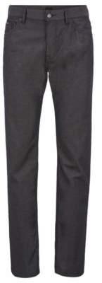 BOSS Hugo Regular-fit jeans in pin-point structured denim 32/30 Black