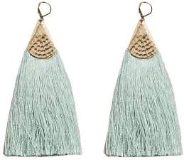 MANGO Fringe earrings