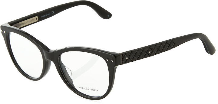 Bottega Veneta Modified Cat-Eye Optical Glasses