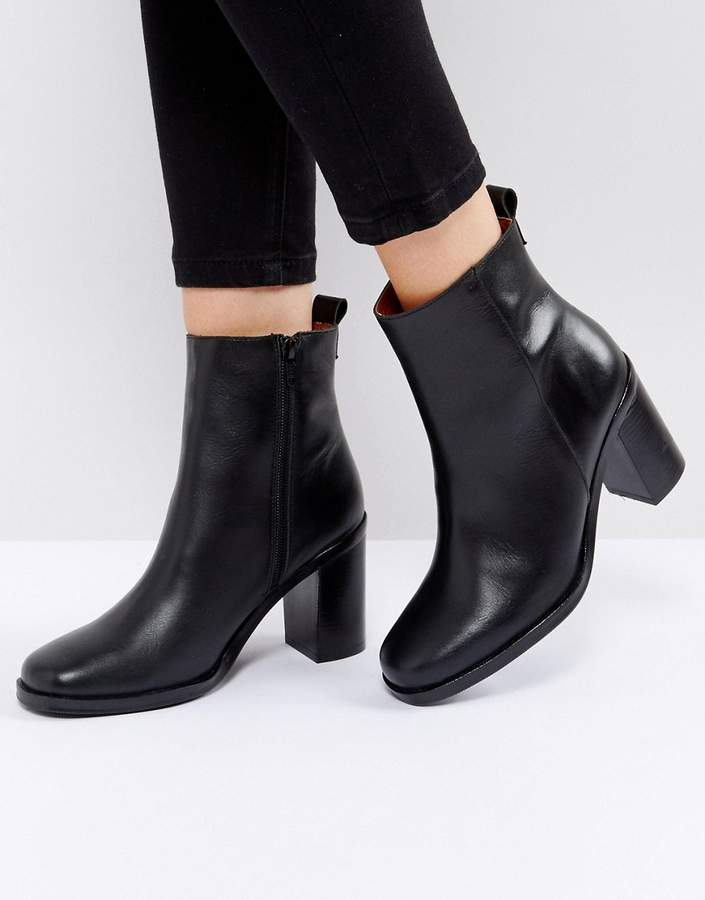 SixtySeven Black Heeled Ankle Boots