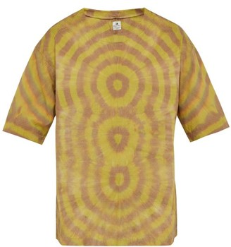 SASQUATCHfabrix. Tie Dye Cotton T Shirt - Mens - Brown Multi