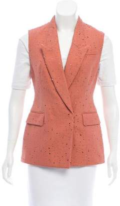 3.1 Phillip Lim Distressed Peak-Lapel Vest