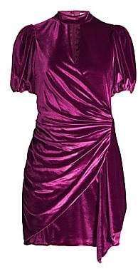 Parker Women's Artie Faux Wrap Keyhole Velvet Mini Dress - Size 0