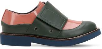 Color Block Leather Loafer Sneakers