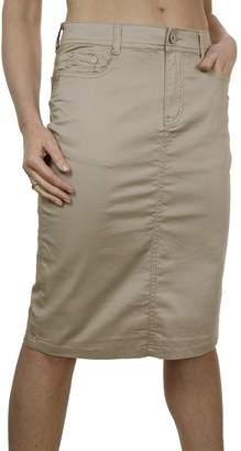 Ice 2516-3) Plus Size Stretch Chino Sheen Jeans Style Skirt