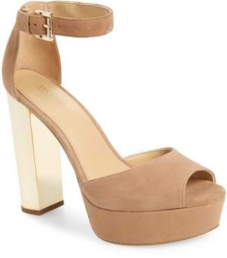 MICHAEL Michael Kors Paloma Metallic Heel Platform Sandal