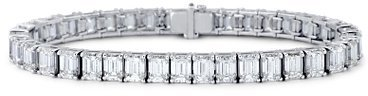 Emerald-Cut Diamond Bracelet in Platinum (28.54 ct. tw.)
