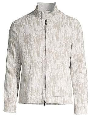 John Varvatos Men's Zip-Up Jacket