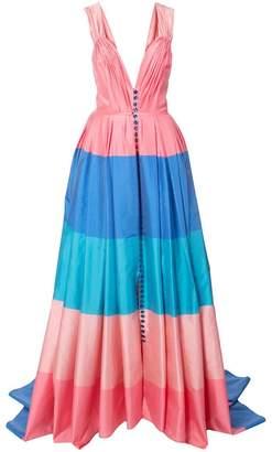 Carolina Herrera sweetheart striped gown