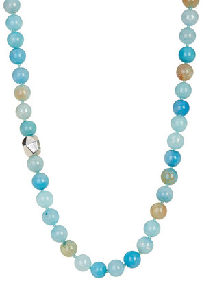 SIMON SEBBAG Multi Teal Agate Beaded Necklace $125 thestylecure.com