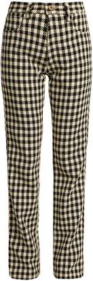 Wales Bonner Brother checked slim-leg cotton trousers