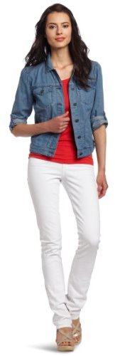 Calvin Klein Jeans Women's Petite Chambray Denim Jacket