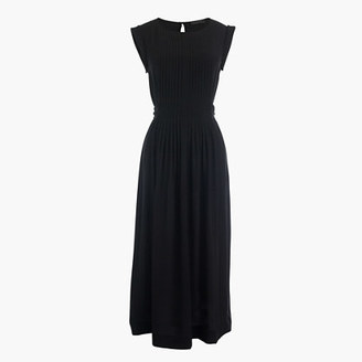 Silk midi dress with tie $168 thestylecure.com