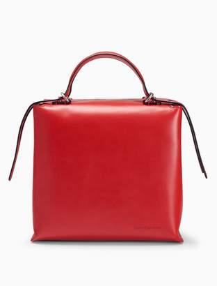 Calvin Klein leather box tote bag