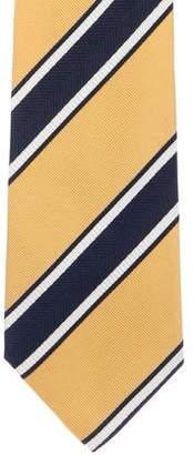 Versace Striped Jacquard Silk Tie