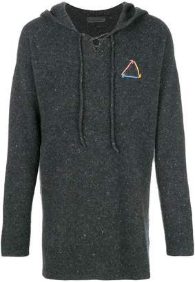 The Elder Statesman hooded knit jumper