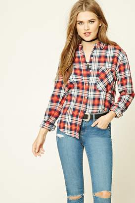 Forever 21 Plaid Cotton Shirt