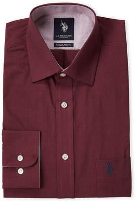 U.S. Polo Assn. Mini Houndstooth Regular Fit Dress Shirt