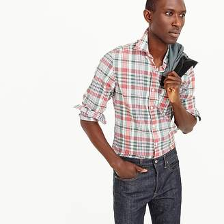 Madras shirt in faded plaid $59.50 thestylecure.com
