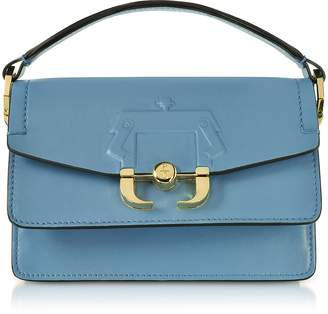 Paula Cademartori Lichen Blue Leather Twi Twi Bag