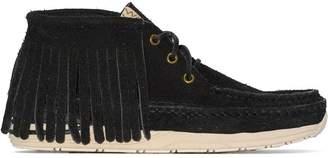 Visvim Voyageur suede moccasin boots