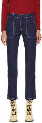 Chloé Blue Large Pocket Jeans