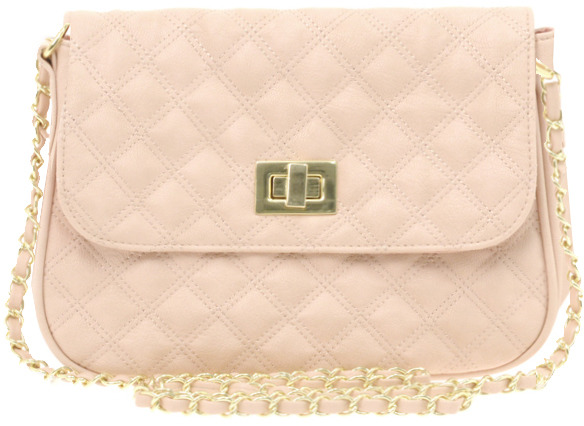 ASOS Nude Quilted Lock Across Body Bag