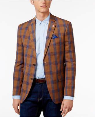 Ben Sherman Men's Slim-Fit Plaid Sport Coat $295 thestylecure.com