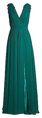 Basix Black Label Women's Shoulder Bow Crepe Gown - Size 0