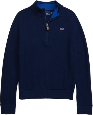 Vineyard Vines Mock Neck Half Zip Pullover