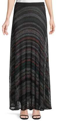 Missoni Netted Multicolor-Striped Maxi Skirt