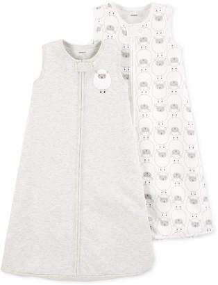 Carter's Baby Boys and Girls 2-Pc. Gray Sheep Cotton Sleep Bags Set
