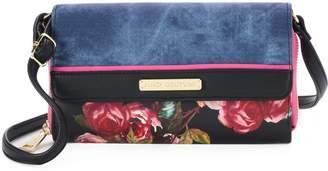 Juicy Couture Denim Floral Crossbody Wallet