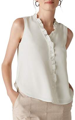 Whistles Maddie Ruffle-Trimmed Top