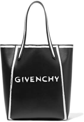 Givenchy Stargate Printed Leather Tote - Black