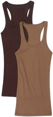 Zenana Outfitters 2 Pack Zenana Women's Ribbed Racerback Tank Tops
