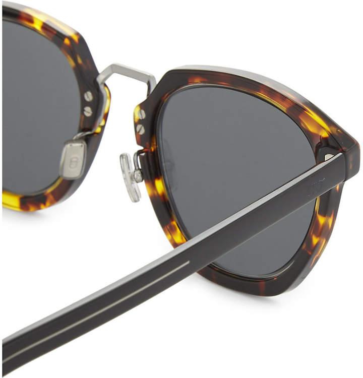 e28f104f7f3 Dior Tailoring 1 square-frame tortoiseshell mirror lens sunglasses detail  image