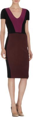 Narciso Rodriguez Colorblock Short Sleeve Dress